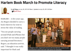 DNA Info Article re Literacy Across Harlem March (2012)