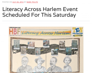 Marc Polite Blog re Literacy Across Harlem March (2012)