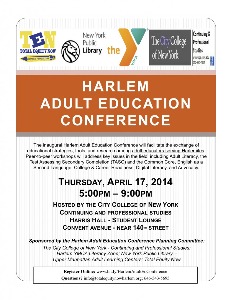 2014 Harlem Adult Education Conference Flyer_FINAL