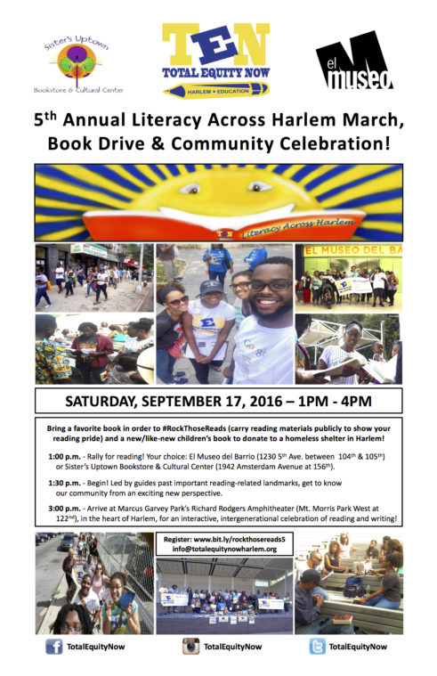 2016 Literacy Across Harlem March_Flyer-Poster_8.17.16