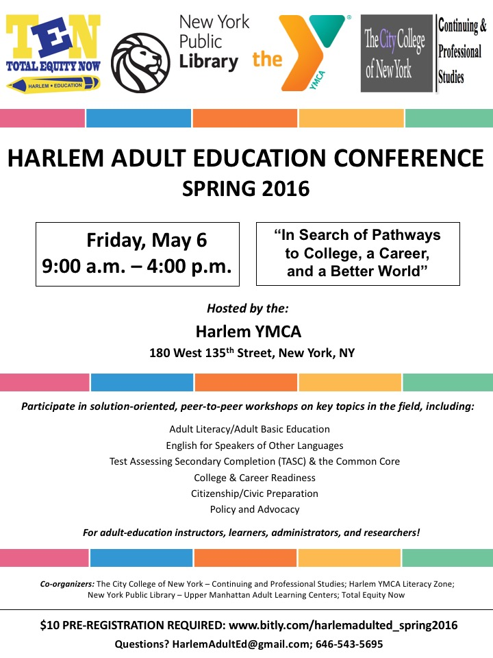 Harlem Adult Education Conference_Flyer_Spring 2016_Registration_FINAL